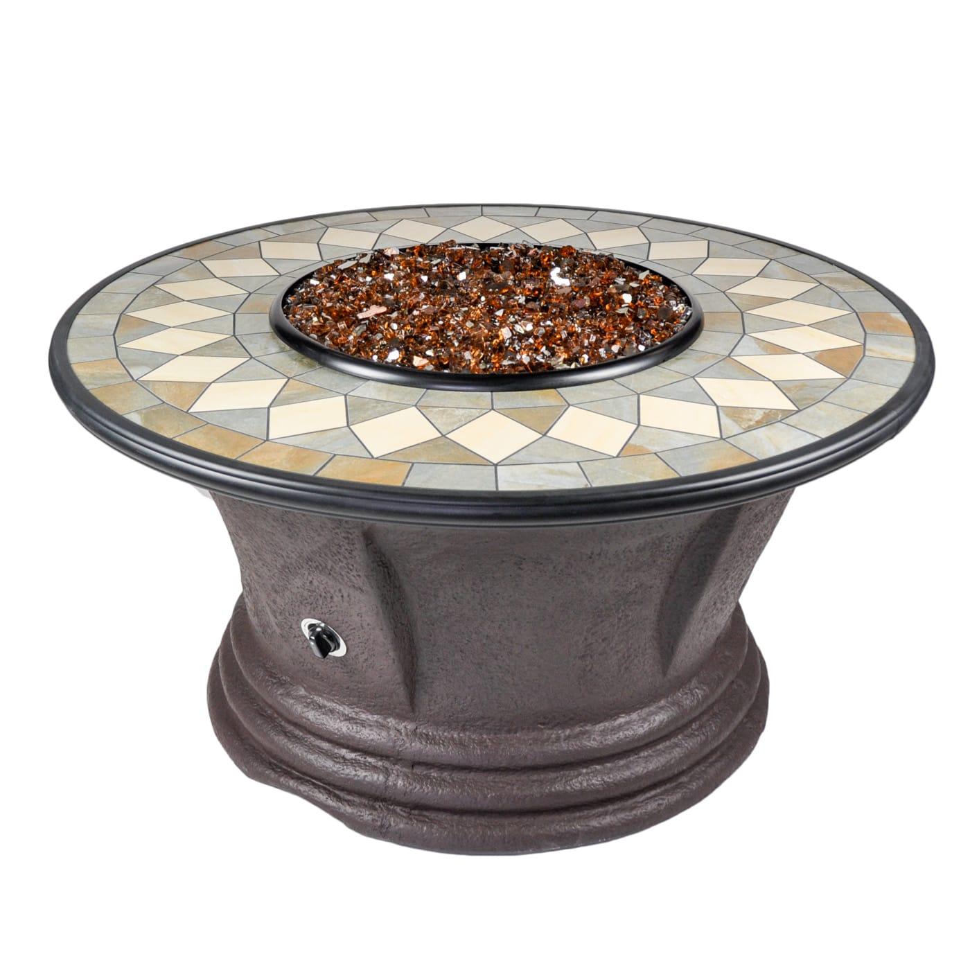 - Cast World - Tretco Havana I 48 Inch Fire Pit Table #FP-C-HAV-48-1